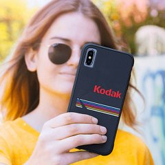 【Case-Mate×Kodak コラボレーション】  iPhone X/XS Case Kodak Matte Black + Shiny Black Logo