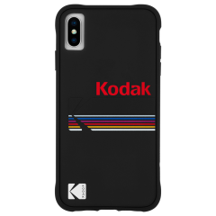 【Case-Mate×Kodak コラボレーション】  iPhone X/XS Case Kodak Matte Black + Shiny Black Logo