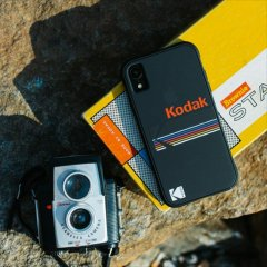 【Case-Mate×Kodak コラボレーション】  iPhone XR Case Kodak Matte Black + Shiny Black Logo