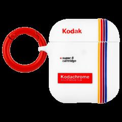【Case-Mate×Kodak コラボ・AirPods全機種対応・ワイレス充電OK】  Kodak Striped Kodachrome Super 8 Print Case for AirPods