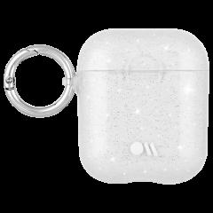 【AirPods全機種対応・ワイレス充電もOK・ネックストラップ付】  AirPods Case Hook Ups Silicone Sheer Crystal Clear