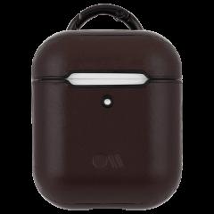 【エアポッドケース・全機種対応・ワイヤレス充電もOK・ネックストラップ付】 AirPods Case Hook Ups Leather Brown Leather