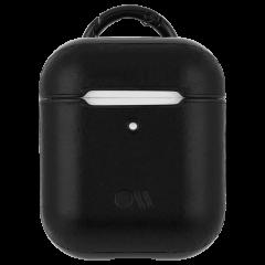 【エアポッドケース・全機種対応・ワイヤレス充電もOK・ネックストラップ付】 AirPods Case Hook Ups Leather Black Leather
