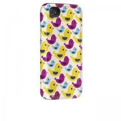 【衝撃に強いデザインケース】 iPhone 4S/4 Hybrid Tough Case, Ducks