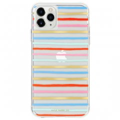 【 RIFLE PAPERとのコラボ】 iPhone 11 / 11 Pro / 11 Pro Max Case RIFLE PAPER - Happy Stripes