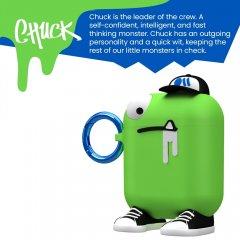 【エアポッドケース・AirPods 第1世代・第2世代・ワイヤレス充電OK・かわいいステッカー付】 AirPods Case CreaturePods - CHUCK