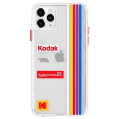 【Case-Mate×Kodak コラボ】 iPhone 11 / 11 Pro / 11 Pro Max Case Kodak - Striped Kodachrome Super 8