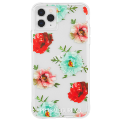 【世界のセレブが認めるデザイナー作品】PRABAL GURUNG iPhone 11 / 11 Pro / 11 Pro Max Case Tough Embroidered Floral Clear
