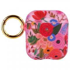 【エアポッドケース・AirPods 第1世代・第2世代・ワイヤレス充電もOK】 RIFLE PAPER × Case-Mate Garden Party Blush for AirPods
