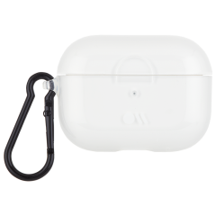 【AirPods Pro ケース・ワイヤレス充電OK】 AirPods Pro Case Clear w/Black Carabiner Clip