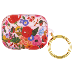 【コラボケース・AirPods Pro ケース・ワイヤレス充電OK】 AirPods PRO Rifle Paper Garden Party Blush w/Gold Circular Ring