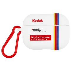 【コラボ・AirPods Pro ケース・ワイヤレス充電OK】 AirPods Pro Kodak White with Kodachrome Stripes w/Red Carabiner Clip
