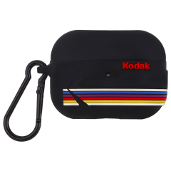 【コラボ・AirPods Pro ケース・ワイヤレス充電OK】 AirPods Pro Kodak Black with Kodak Stripes w/Black Carabiner Clip