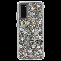 【本物の真珠貝を使用した 世界に一つだけのケース】  3m落下耐衝撃 スマホケース Samsung Galaxy S20 / S20+ / S20Ultra Karat Mother of Pearl