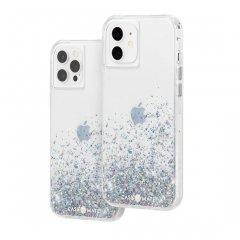 【美しい輝き!+抗菌仕様】iPhone 12 / iPhone 12 Pro 共用 Twinkle Ombré - Black w/ Micropel