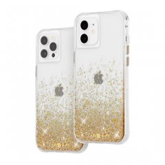 【金色に美しく輝く!+抗菌仕様】iPhone 12 / iPhone 12 Pro Twinkle Ombré - Gold w/ Micropel