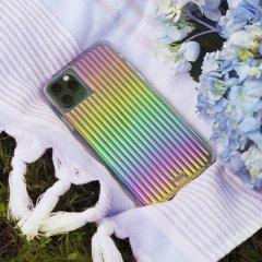 【虹色に輝くデザインケース+抗菌仕様】iPhone 12 / iPhone 12 Pro 共用 Tough Groove Iridescent w/ Micropel