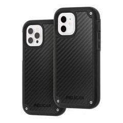 【Pelican×Case-Mate 抗菌仕様】iPhone12/iPhone 12 Pro 共用 Pelican Shield - Black Kevlar w/ Micropel ホルスターセット