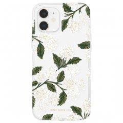 【RIFLE PAPER × Case-Mate】iPhone 12 mini RIFLE PAPER - Clear Hydrangea - White w/ Micropel