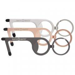 Safe+Mate 3本セット タッチレス・ツール タッチパネル対応 ボトルオープナー ブラック/ローズゴールド/シルバー