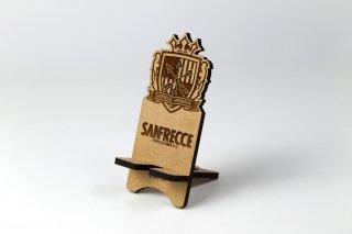 サンフレッチェ広島 木製スマホスタンド・エンブレム