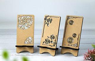 木製スタンド 花柄(名入れ)