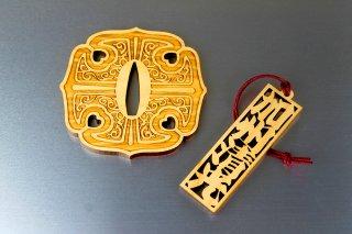 加州清光 鍔コースター&刀銘ストラップセット