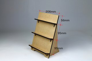 木製ディスプレイ スタンド無地(3段)