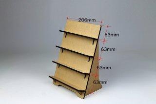 木製ディスプレイ スタンド無地(4段)
