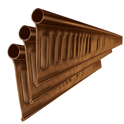 リサイクルエッジング(R) Vタイプ プラエッジ100 茶色 高さ:13� 長さ:2m×3本、アンカーピン10本、ストレートジョイント 太:3本 細:3本入(旧 Vタイプ +プラス)