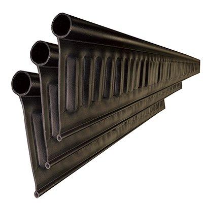 リサイクルエッジング(R) Vタイプ プラエッジ100 黒色 高さ:13� 長さ:2m×3本、アンカーピン10本、ストレートジョイント 太:3本 細:3本入(旧 Vタイプ +プラス)