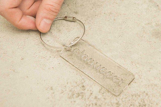 Key chain クリアグレー