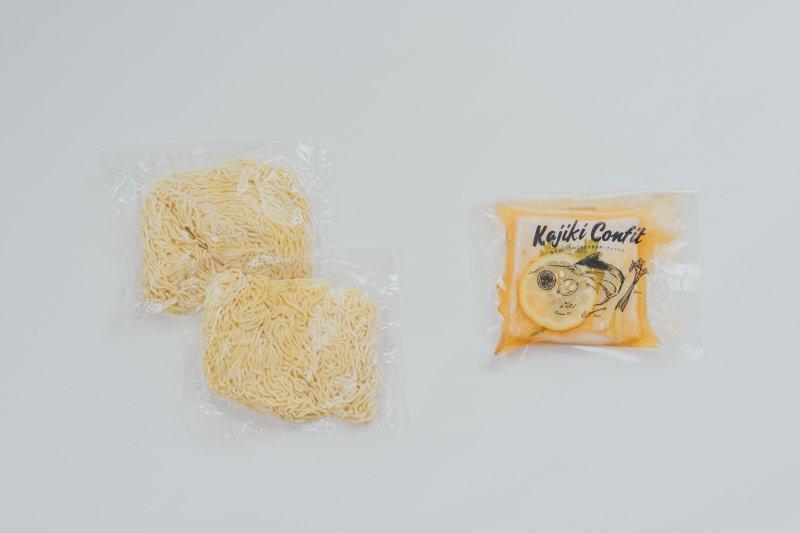 【冷蔵】【期間限定】かじきコンフィ&冷やし中華の麺セット