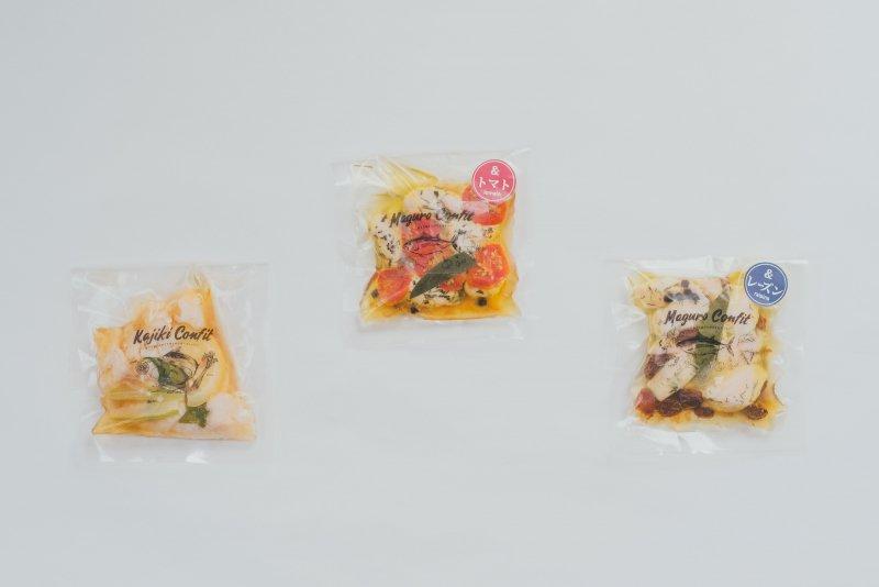 【冷蔵】【期間限定】新商品ミニ3パックセット -かじきコンフィ、まぐろコンフィ&トマト、まぐろコンフィ&レーズン-