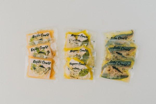 【冷蔵】ごちそうコンフィ3種まとめ買いセット(まぐろ・かじき・さば各3パックセット)