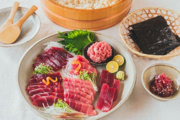 天然インド・メバチまぐろの食べ比べ手巻き寿司セット