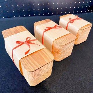 九州の杉で出来たナチュラルなお弁当箱(小)