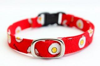 猫首輪 目玉焼き(赤)