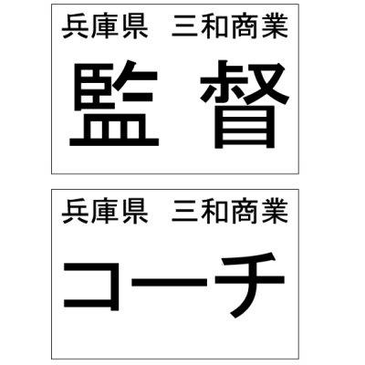 監督(コーチ)用ゼッケン