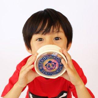 金平糖入りラウンドポーチ(青)