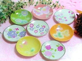 ★食卓に彩りを★ 【和食器】 花柄 小皿
