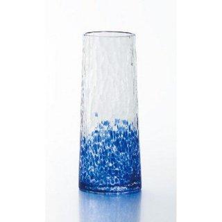 【和ガラスの花器】津軽びいどろ ミニ花器丸 ブルー