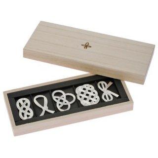 【能作】箸置きセット 結び  はしおき5個 桐箱入りギフトセット