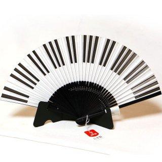 【京扇子】 ミュージック MUSIC 紙扇子 ピアノ 鍵盤 【舞扇堂】