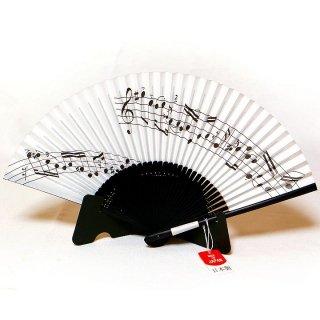 【京扇子】 ミュージック MUSIC 紙扇子 ピアノ 楽譜 【舞扇堂】
