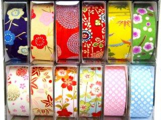 【和紙工芸品】友禅和紙テープ 12個セット 【花楽堂オリジナルセット】
