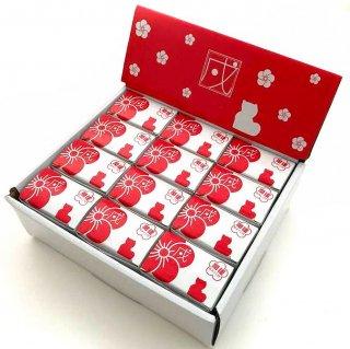 【干支みくじ】正月飾り 干支置物 戌 犬のオーナメント置物 白 開運おみくじ付 箱入り 12個セット