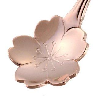 【さくらの高級スプーン】【日本製】桜花スプーン ピンクゴールド