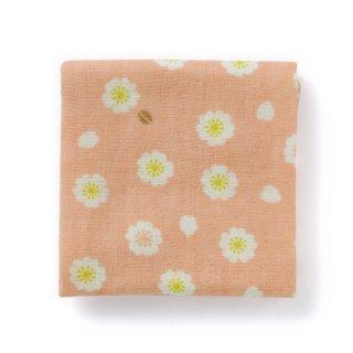 【桜の布小物】小紋 千代布 桜小紋 桃