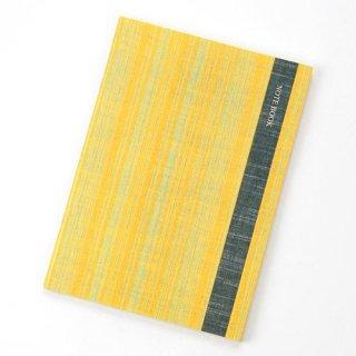 会津木綿柄ノート 向日葵 (ひまわり)夏のヒマワリ色のノート